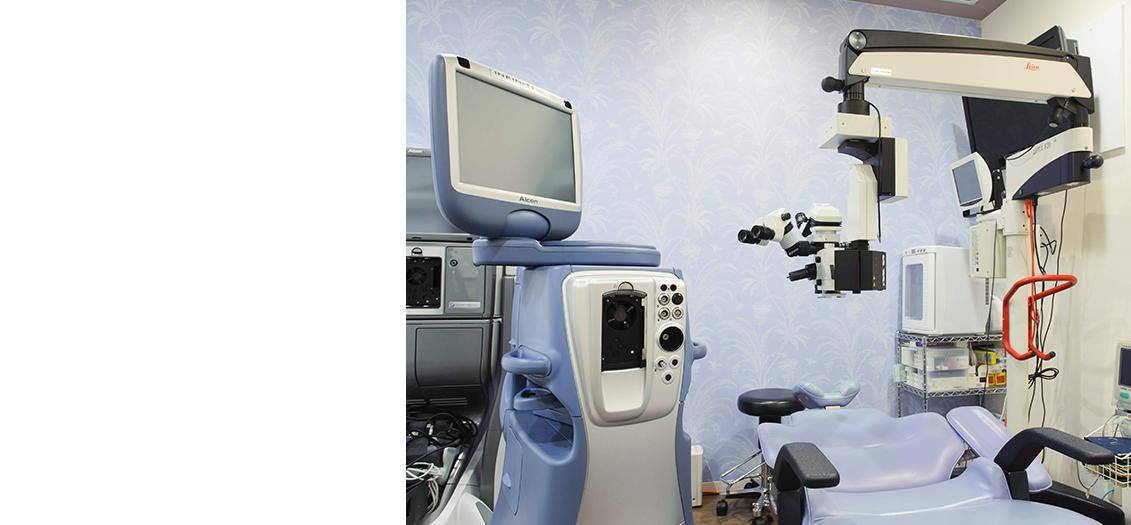 Luce三鷹ゆかり眼科の白内障手術室