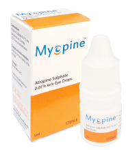 近視進行抑制の目薬マイオピン