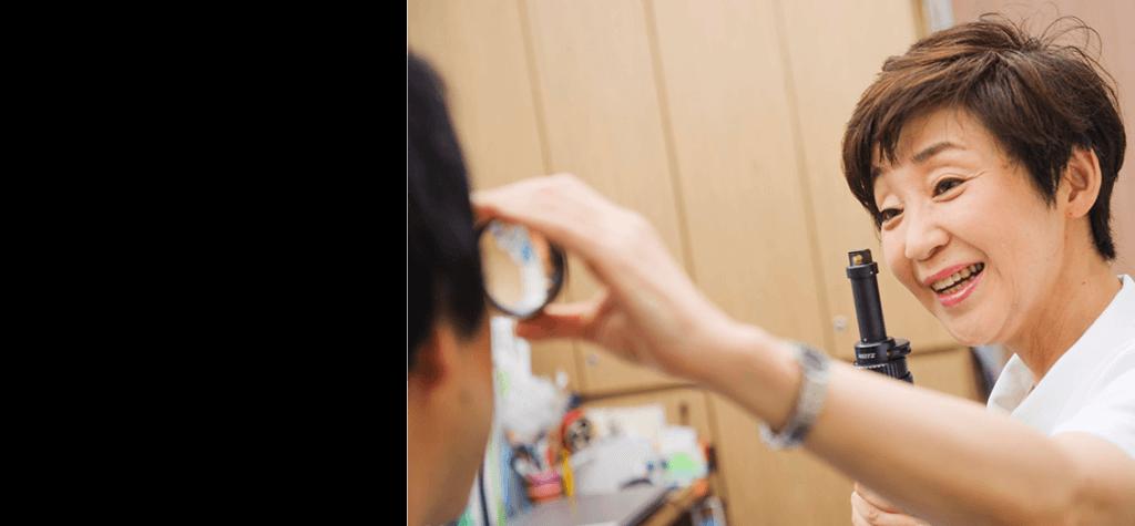 Luce三鷹ゆかり眼科の診察風景